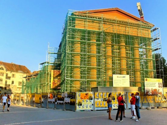 NATIONAL THEATER IN MY TOWN  --------- PULLING DOWN ----------  front side  they MUST keep ...