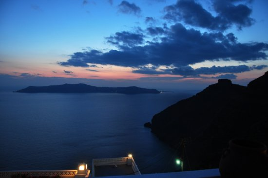 Santorini Greece sunset volcano island Nikon D90