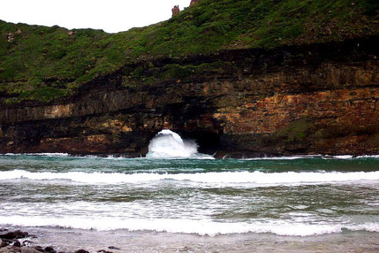 hole in the wall transkei wild coast south africa