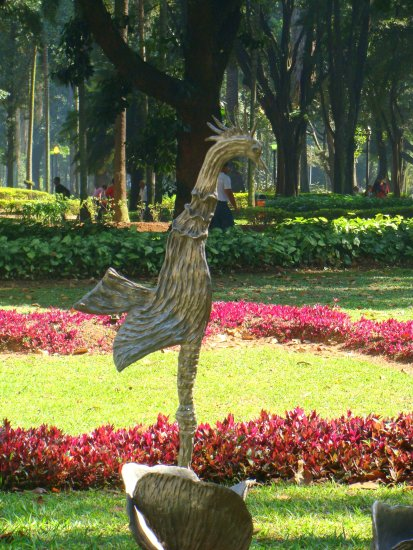 sculpture rooster