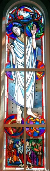 stlouis missouri us usa window stainglass red blue white 2006