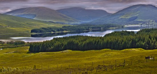 Scotland HDR mountains highlands lake landscape