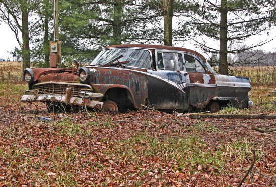 dok1 otis ford abandoned 1956 ohio pikecountyohio backroad