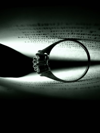 ring close up light book emo