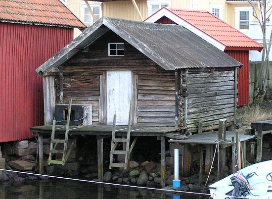 An old boathouse