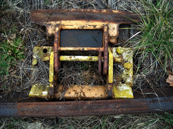 railroad track color rust corrosion
