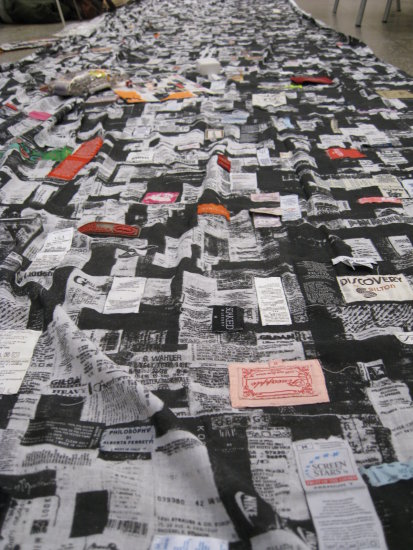 textile biennial kaunas patchwork label people