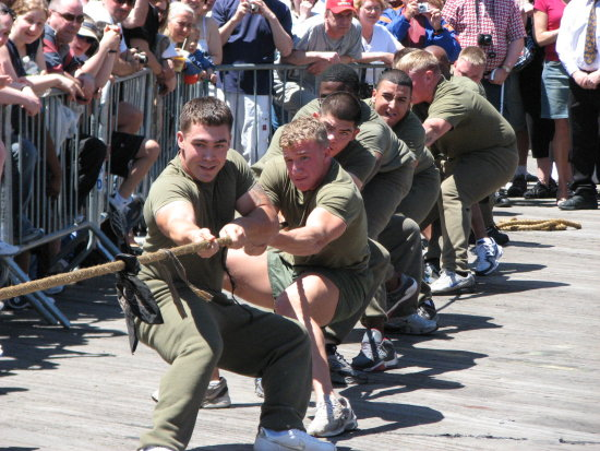 southstreet seaport newyorkcity fleetweek manhattan marines tugofwar