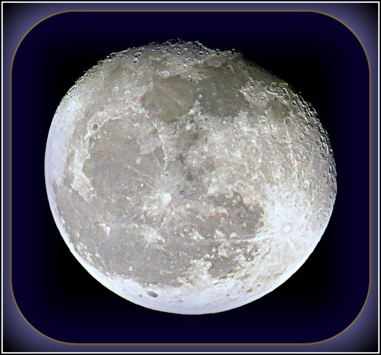 The Moon Tonight. close to mid-night I think.  EXIF will tell for sure.. I was thinking it was su...