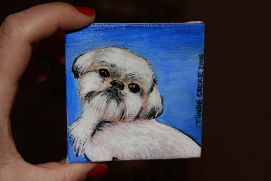 Acrylic on mini canvas