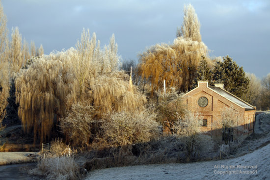 old watermill winter