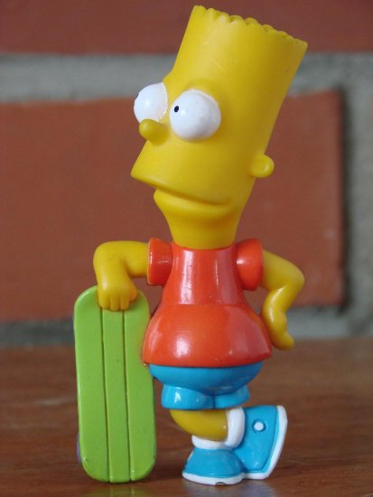 This figure of a well known TV character stands approx. 12cm, (about 5 inches), tall.