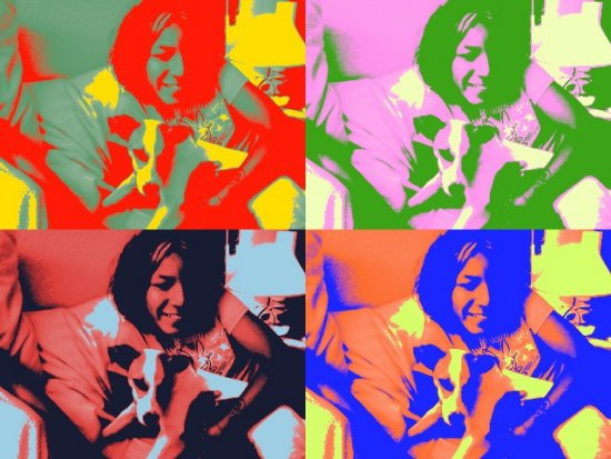 nina97 and boo playing in photobooth on my macbookpro multicolorfriday2