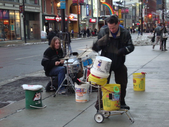 At 5:11pm-On Yonge St.,at Dundas-outside Toronto Eaton Centre-On Saturday,Jan.26,2013