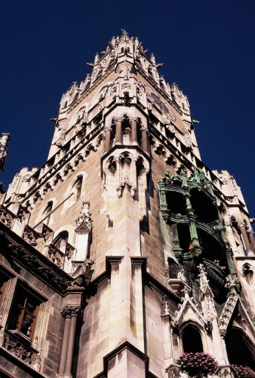 rathaus munich townhall travel europe velvia