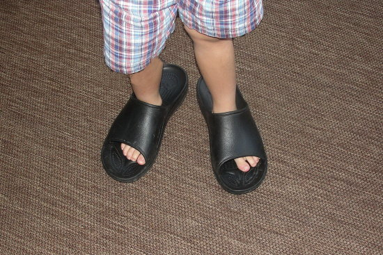 slippers boy grandfather