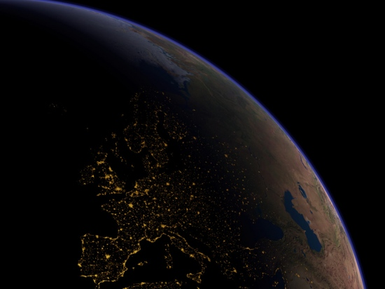 Spain Night Light Europe NASA