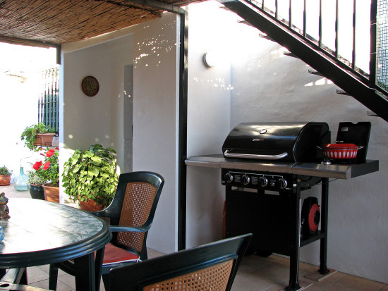 BBQ garden terrace flowers home alora andalucia spain