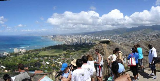 Hawaii oahu waikiki diamond head