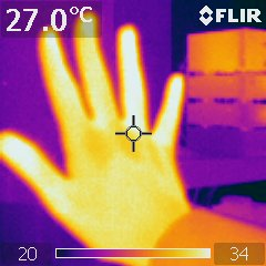 infrared thermometer hand