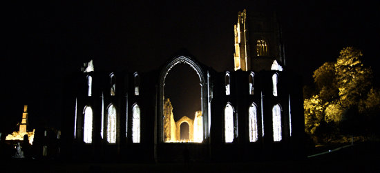fountains abbey floodlight