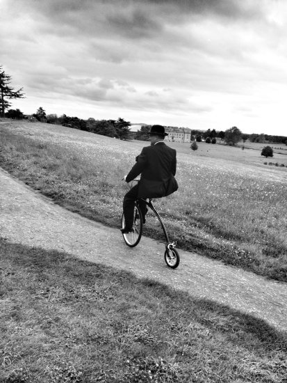 National Trust Penny Farthing at Croome Park and Gardens