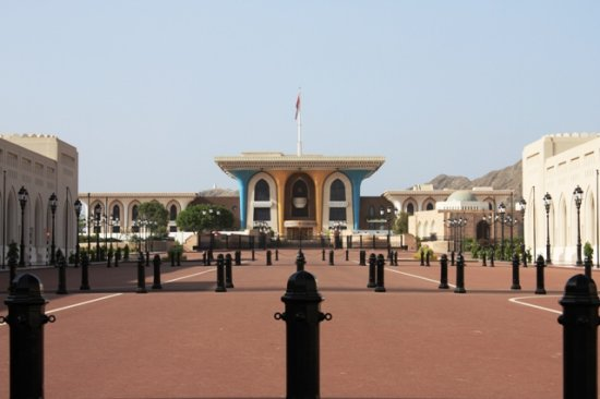 Sultans palace in muscat Oman