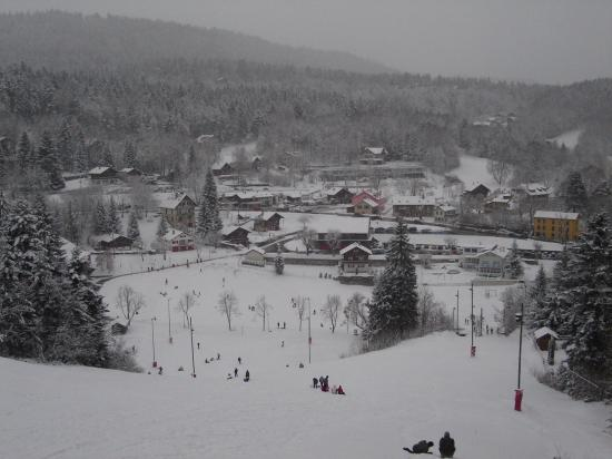 A tiny ski resort in a tiny Swiss town on the French border in the Jura mountains- closed for Chr...