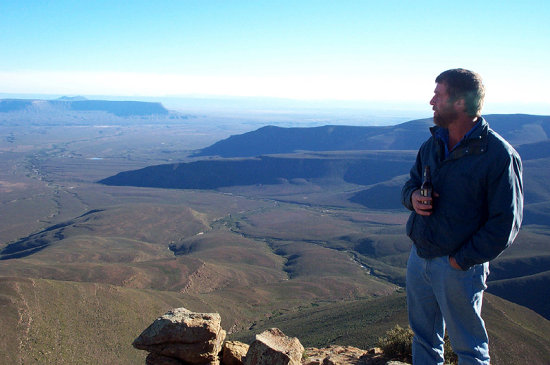 Skurweberg Mountain Range near Sutherland coldest place in South Africa the