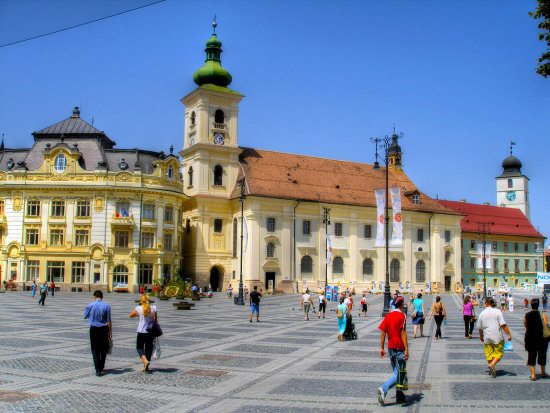 sibiu city romania hdr high dynamic range