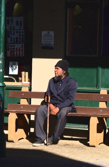 Aboriginal man watching didgeridoo Fremantle littleollie