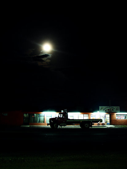 highway road truck night moon mexico puebla