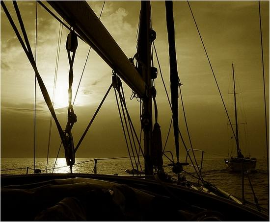 sea Adriatic sailing nature sail sunset