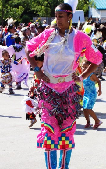 Pow Wow dancer Indian woman