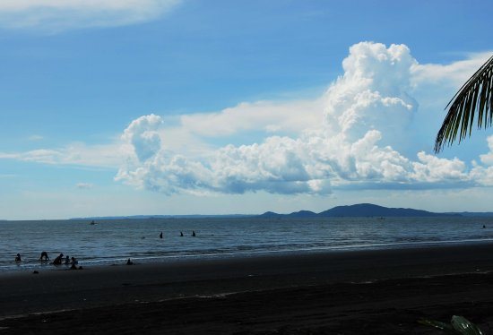 clouds philippines sea beach people
