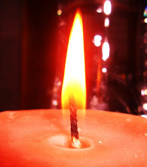 orange flame candle