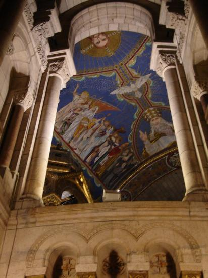 I seem to have a thing for colorful church ceilings. This one is Sacre Cour (the church you can s...