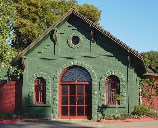 Main maintenance building at Mountain View Cemetery