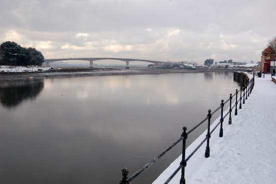 river taw barnstaple snow