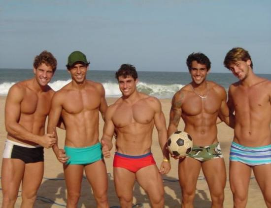 brazilians in the beach