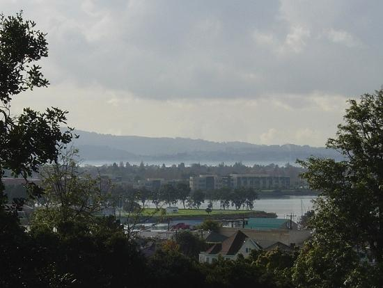 View of Coast Guard Island, Alameda, San Francisco Bay, Candlestick Point and Brisbane from San A...