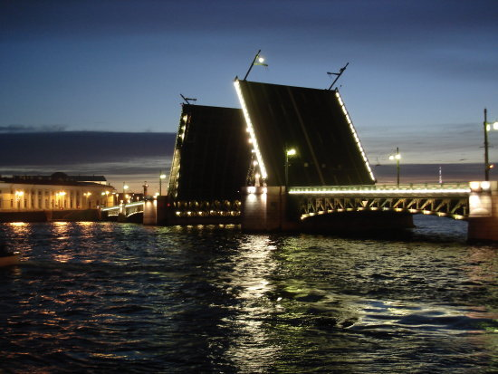 Saint Petersburg. Main drawbridge of this beautiful city.