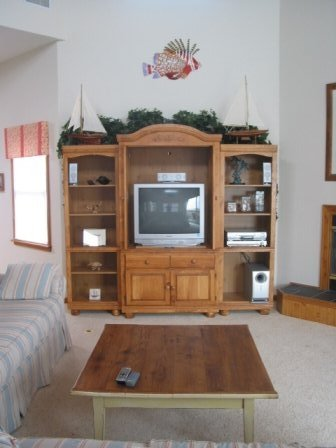 The Salty Pause home theater surround sound entertainment center