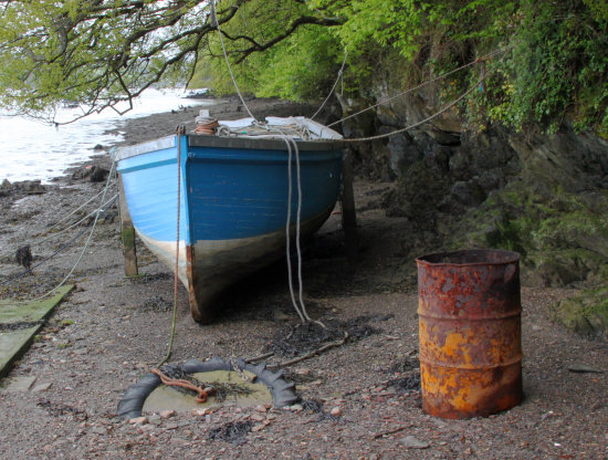 Boat next to River Dart