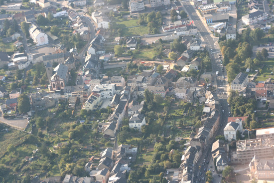 aerial view remich luxembourg