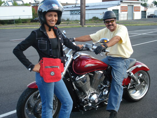 Me and My friend getting ready to ride.