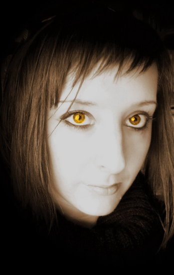 me self portrait sepia black eyes face golden cheeetah