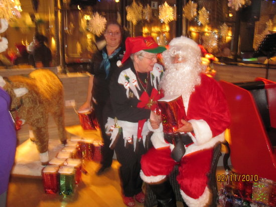 In my Christmas Jumper with Father Christmas!