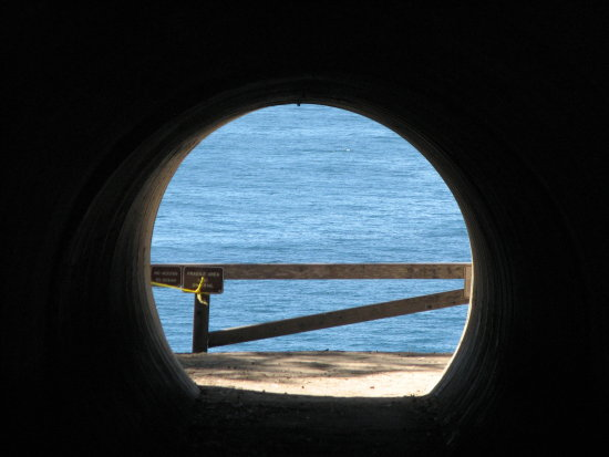 Ocean at the end of the tunnel