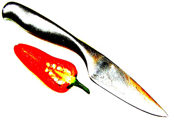 knife chilli pepper